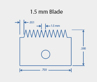 1.5 mm Cross Hatch Cutter Adhesion Test Kit Cutting Blade Diagram