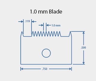 1.0 mm Cross Hatch Cutter Adhesion Test Kit Cutting Blade Diagram