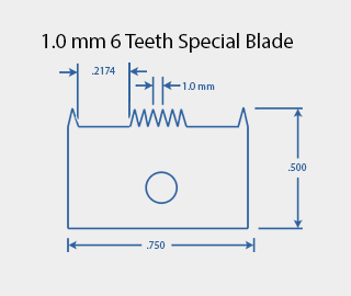 1.0 mm 6 Teeth Special Cross Hatch Cutter Adhesion Test Kit Cutting Blade Diagram