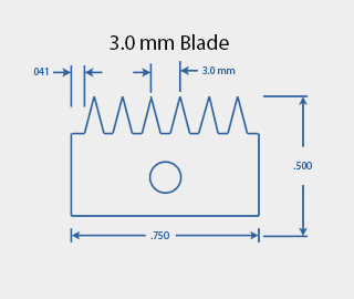 3.0 mm Cross Hatch Cutter Adhesion Test Kit Cutting Blade Diagram
