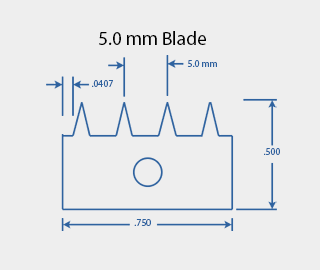 5.0 mm Cross Hatch Cutter Adhesion Test Kit Cutting Blade Diagram
